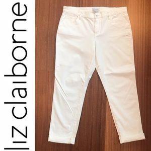 LIZ CLAIBORNE STRETCHY WHITE JEANS SZ 12